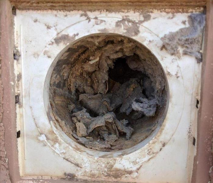 dryer vent full of lint